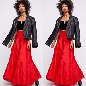 Free People Embroidered Party Maxi Skirt
